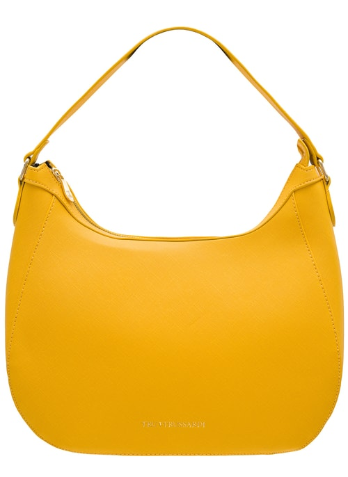 Real leather shoulder bag Tru Trussardi - Yellow