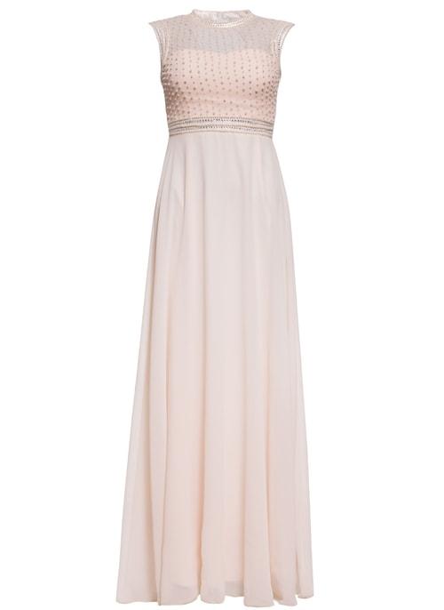 54fbcc67cd6a Spoločenské luxusné dlhé šaty s perličkami - champagne ...