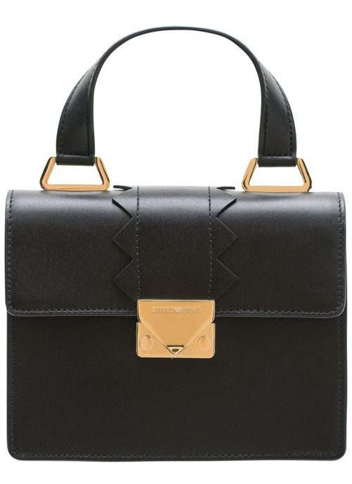 Real leather handbag Emporio Armani - Black