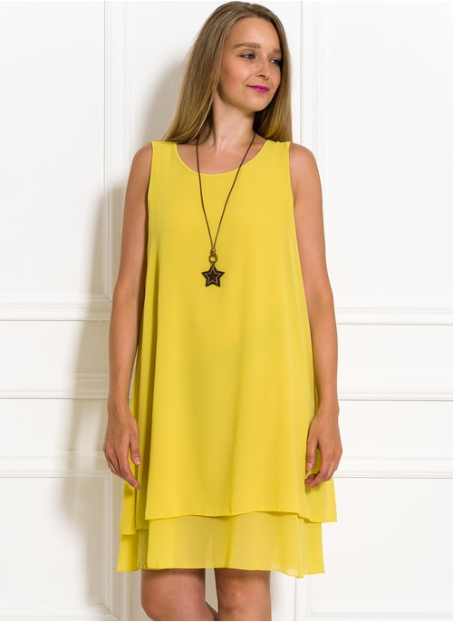 6680cd109888 Letné šaty voľného strihu žlté Letné šaty voľného strihu žlté