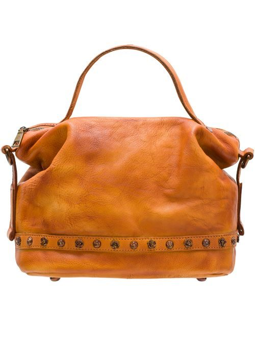 Real leather handbag Glamorous by GLAM Santa Croce - Brown