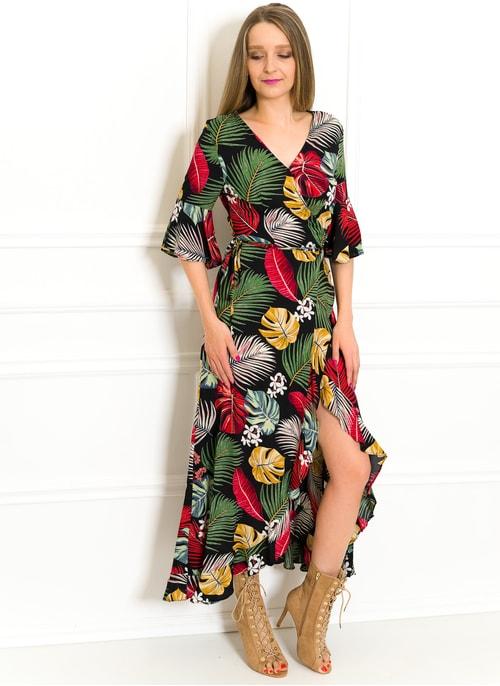 a4ff61eb799c Letní šaty zavinovací s motivem květin Letní šaty zavinovací s motivem  květin