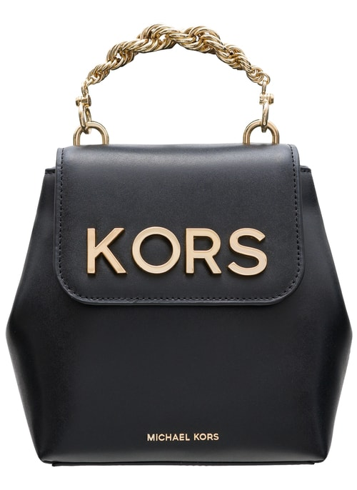 Women's real leather backpack Michael Kors - Black
