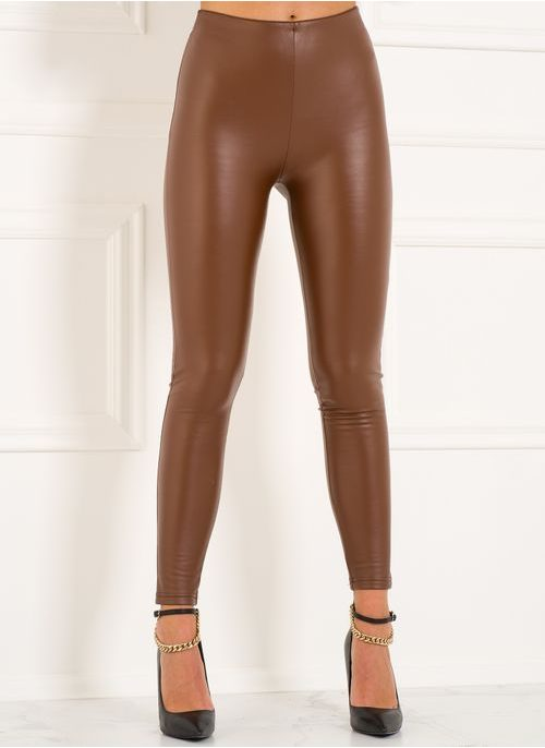 Women's trousers Due Linee - Brown