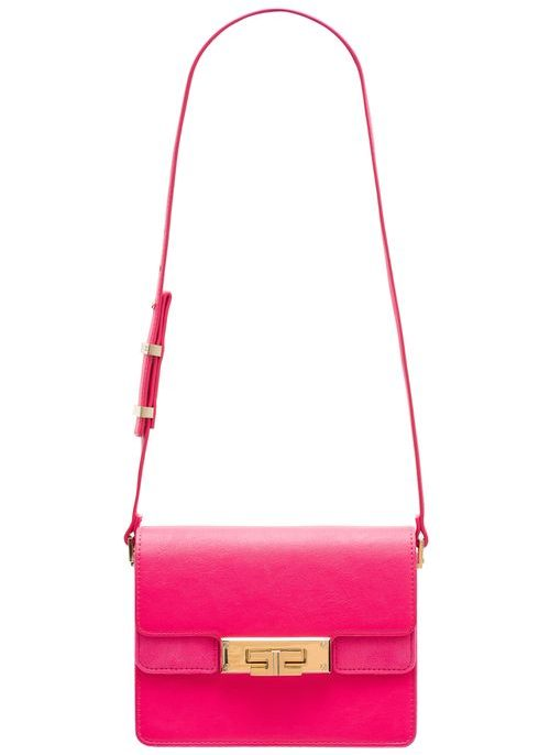 Real leather crossbody bag Elisabetta Franchi - Red