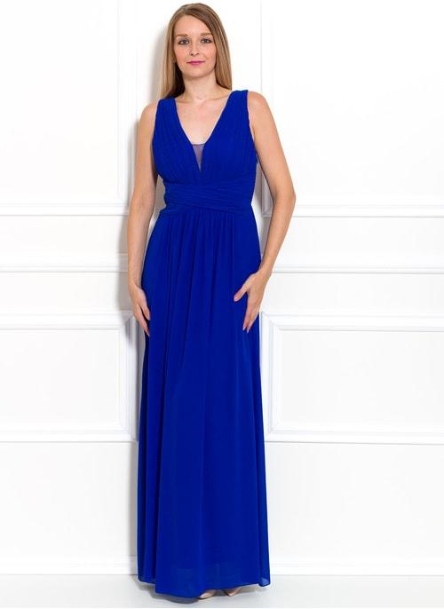 1910b488e733 Spoločenské dlhé šaty jednoduché skladané - kráľovsky modrá ...