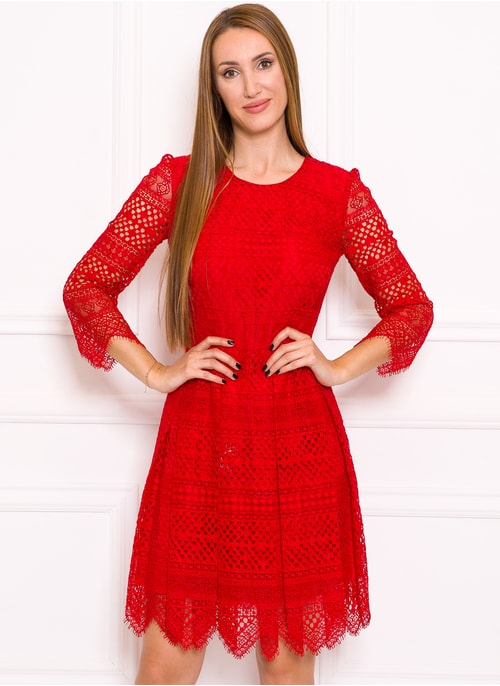 Lace dress TWINSET - Red