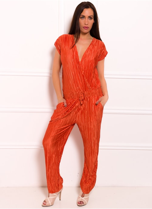 Jumpsuit Due Linee - Orange