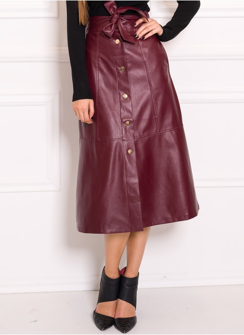 Skirt Due Linee - Wine