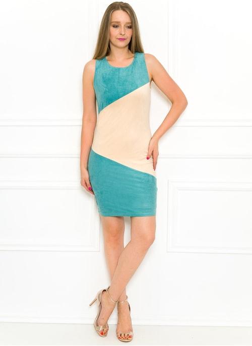 4ef23b5340 Dámské šaty tyrkysovo - béžové Dámské šaty tyrkysovo - béžové