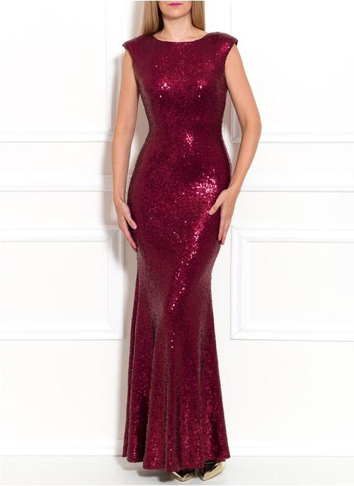 96f458bf63ef Spoločenské luxusné dlhé šaty s flitrami - vínová ...