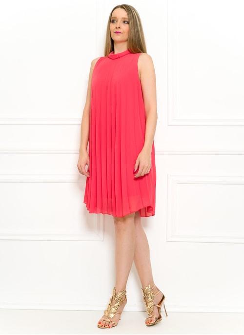 debd3bac75 Letní šifonové šaty volné plizované lososové Letní šifonové šaty volné  plizované lososové