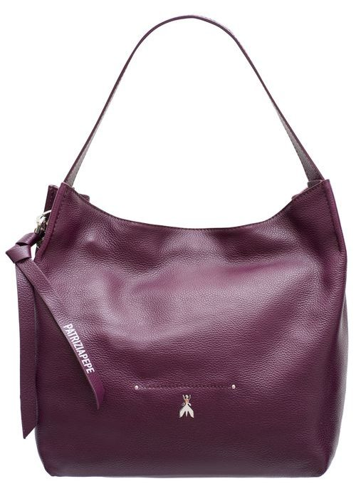 Real leather shoulder bag PATRIZIA PEPE - Violet