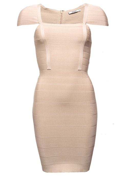 Bandage dress GLAM&GLAMADISE - Beige