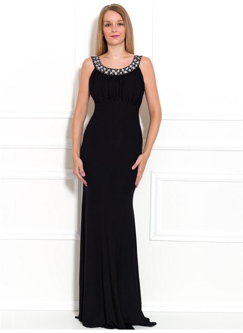098b6ffc35f7 Spoločenské dlhé šaty s veľkými kamienkami - čierna ...