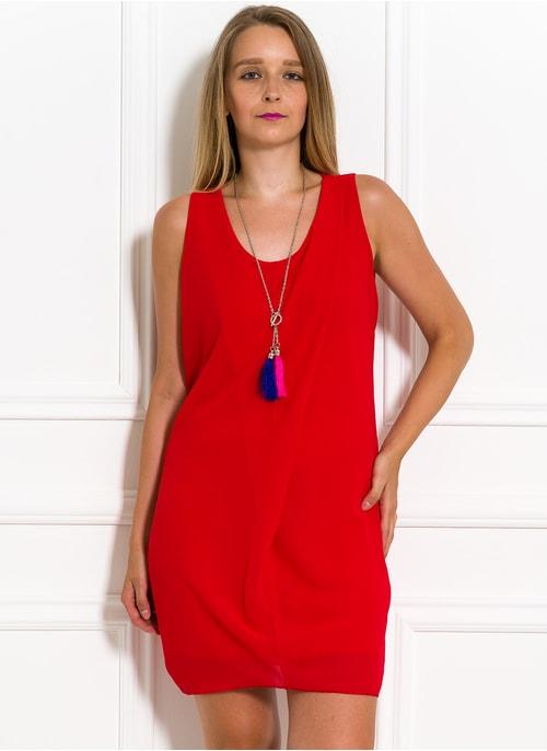 3052e7efe9a5 Voľné letné šaty s príveskom červené Voľné letné šaty s príveskom červené