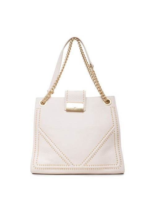 Real leather shoulder bag Guess Luxe - White