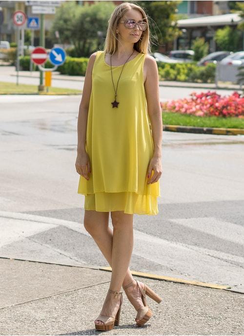 64d3f91fcc2e Letné šaty voľného strihu žlté ...