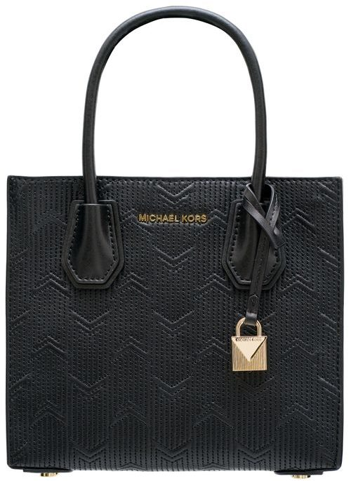 Real leather handbag Michael Kors - Black