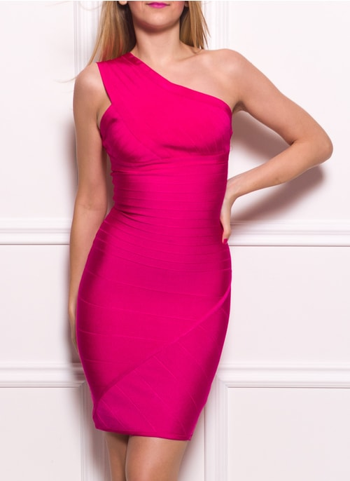 Bandage dress GLAM&GLAMADISE - Pink