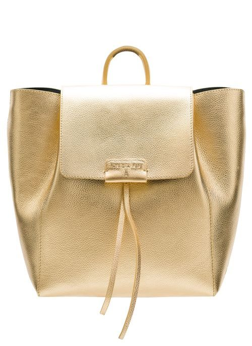 Real leather backpack PATRIZIA PEPE - Gold