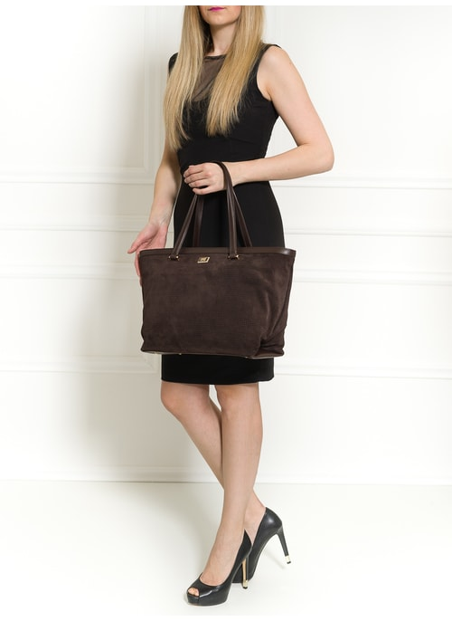Real leather shoulder bag Cavalli Class - Brown