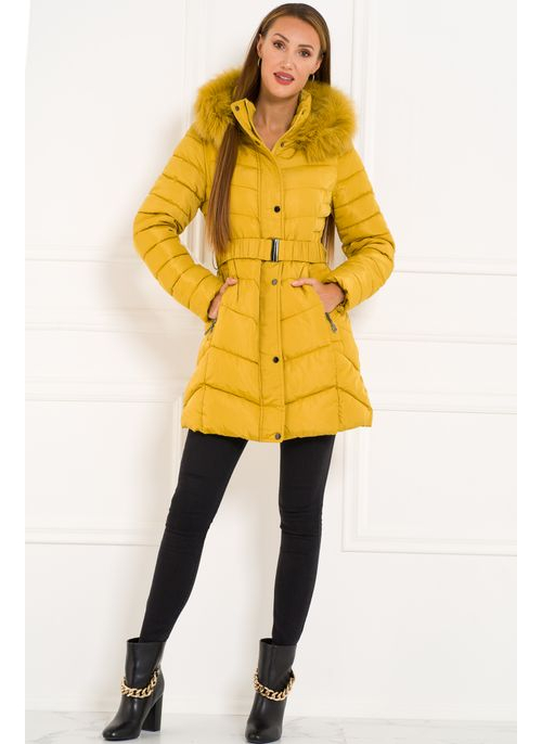Winter jacket Due Linee - Yellow