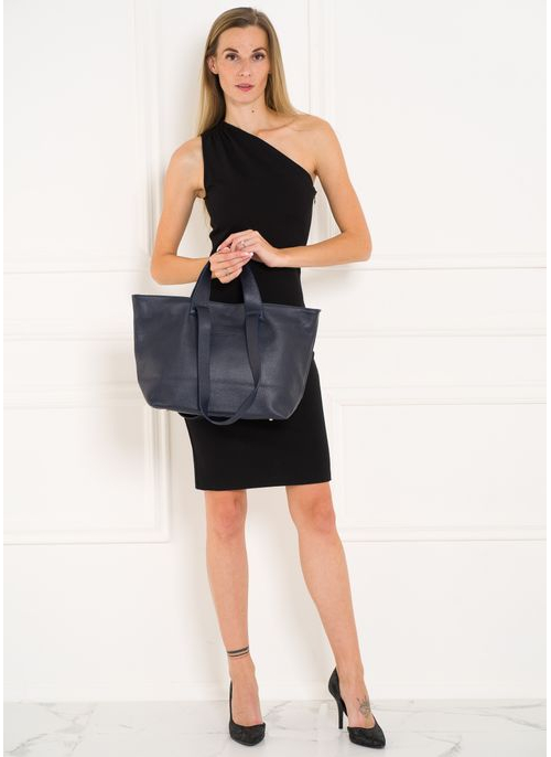 Real leather handbag Furla - Black