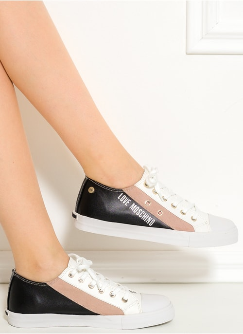 Women's sneakers Love Moschino - Black-white