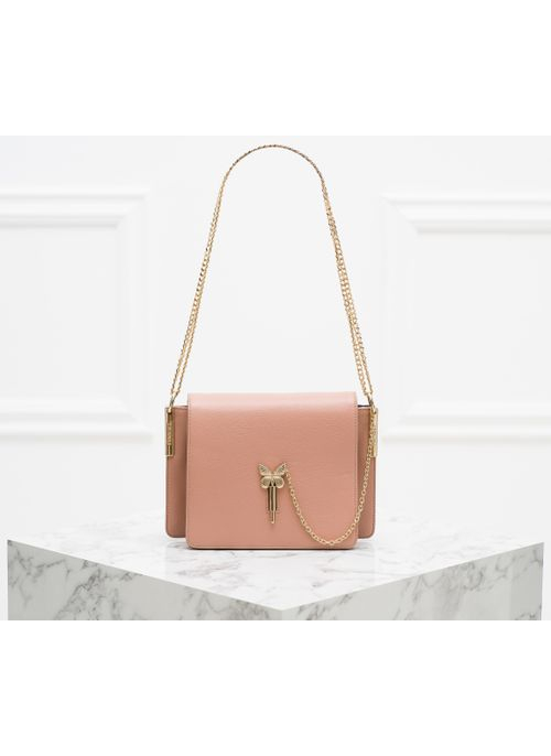 Real leather crossbody bag TWINSET - Pink
