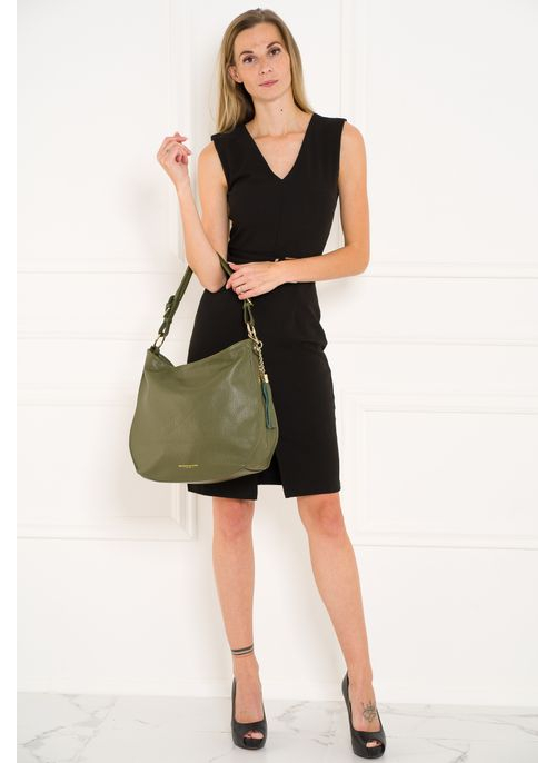 Real leather shoulder bag Glamorous by GLAM - Green