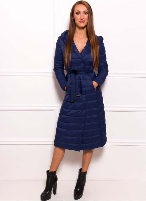 Women's winter jacket Due Linee - Dark blue