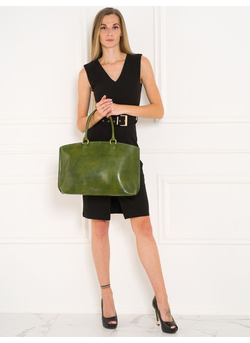 Real leather shoulder bag Glamorous by GLAM Santa Croce - Green
