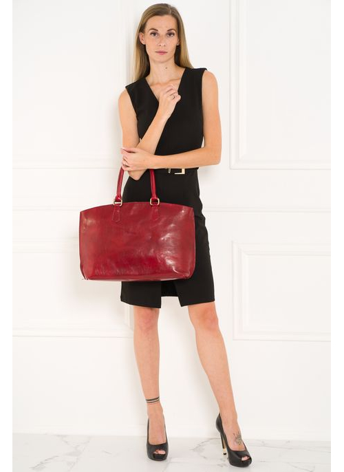 Real leather shoulder bag Glamorous by GLAM Santa Croce - Wine
