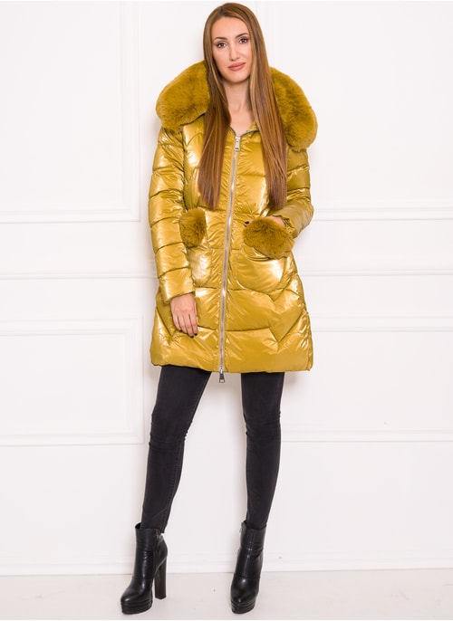Due Linee Women's winter jacket - Yellow
