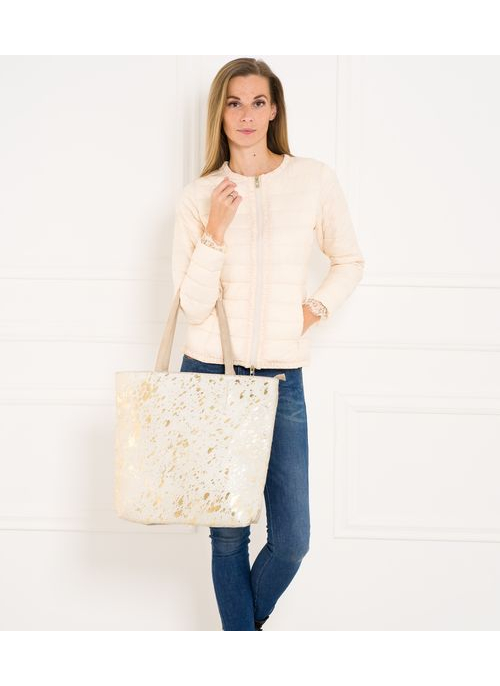 Leather clutch Glamorous by GLAM - Beige