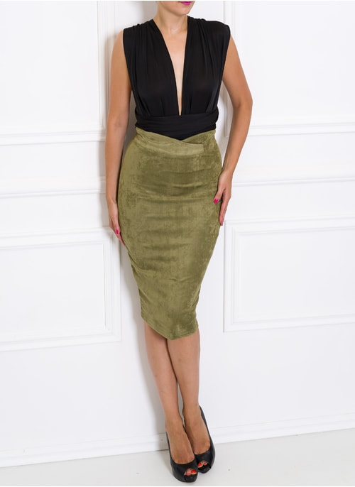 Skirt Due Linee - Green