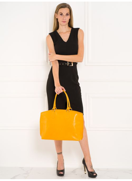Real leather shoulder bag Glamorous by GLAM Santa Croce - Yellow