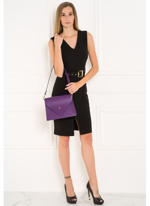 Real leather shoulder bag Glamorous by GLAM - Violet