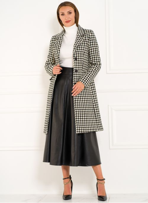 Women's coat Glamorous by Glam - Black-white