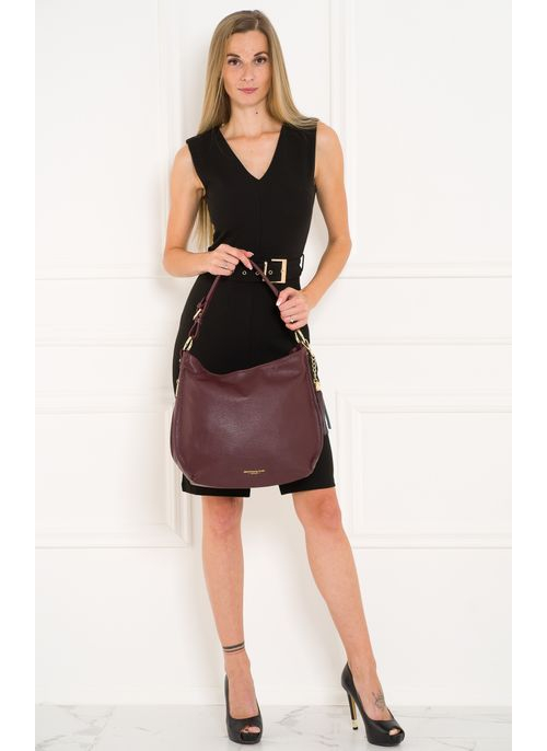 Real leather shoulder bag Glamorous by GLAM - Wine