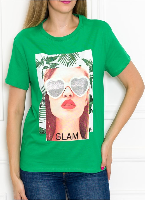 Women's T-shirt Due Linee - Green