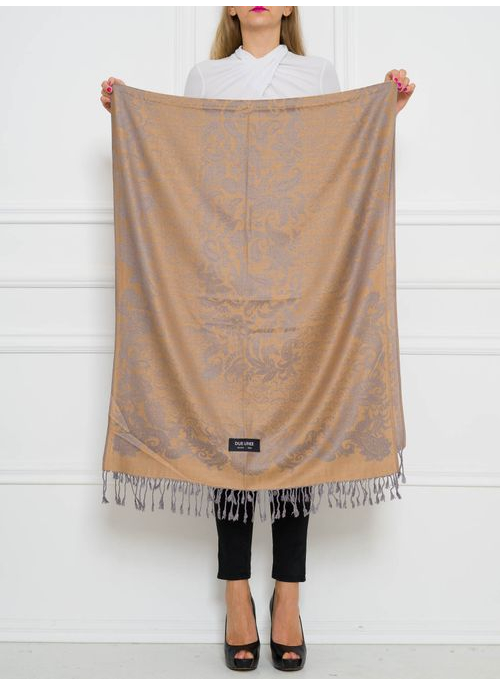 Women's scarf Due Linee - Brown