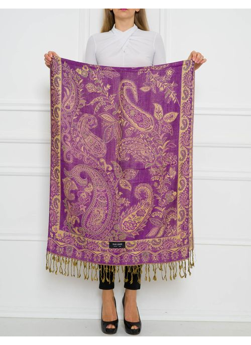 Women's scarf Due Linee - Violet