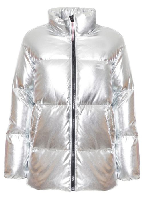 Women's winter jacket Tommy Hilfiger - Silver