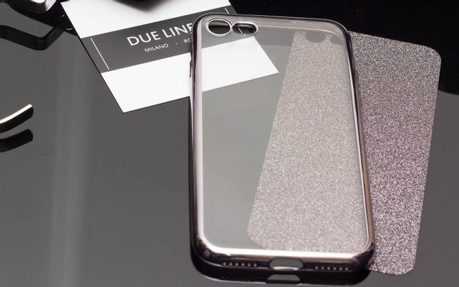 Case for iPhone 7/8 Due Linee - Black