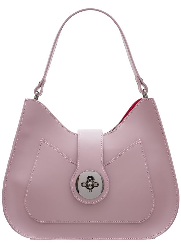 Real leather shoulder bag Glamorous by GLAM - Pink