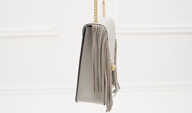 Real leather crossbody bag Glamorous by GLAM - Grey