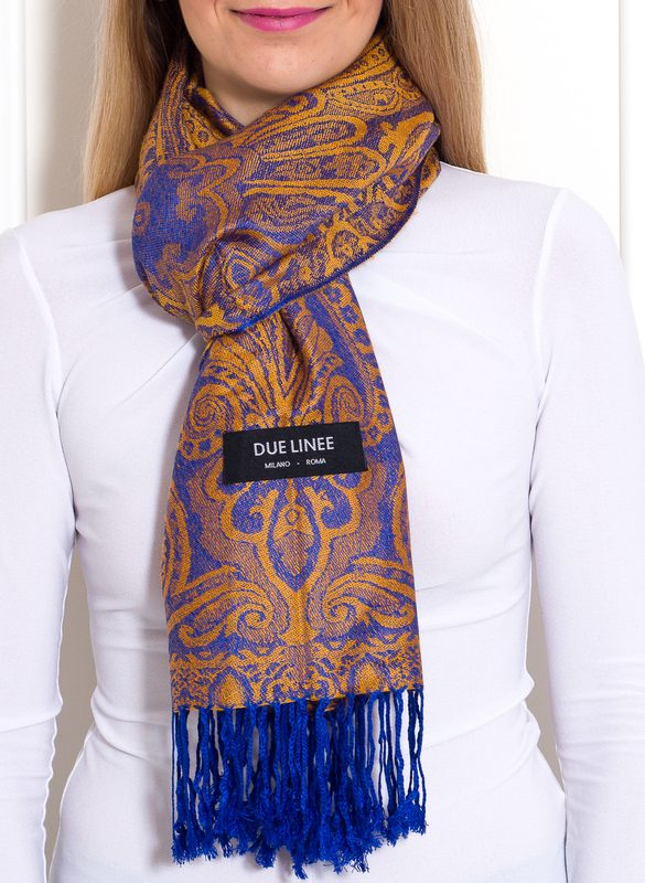 Women's scarf Due Linee - Orange