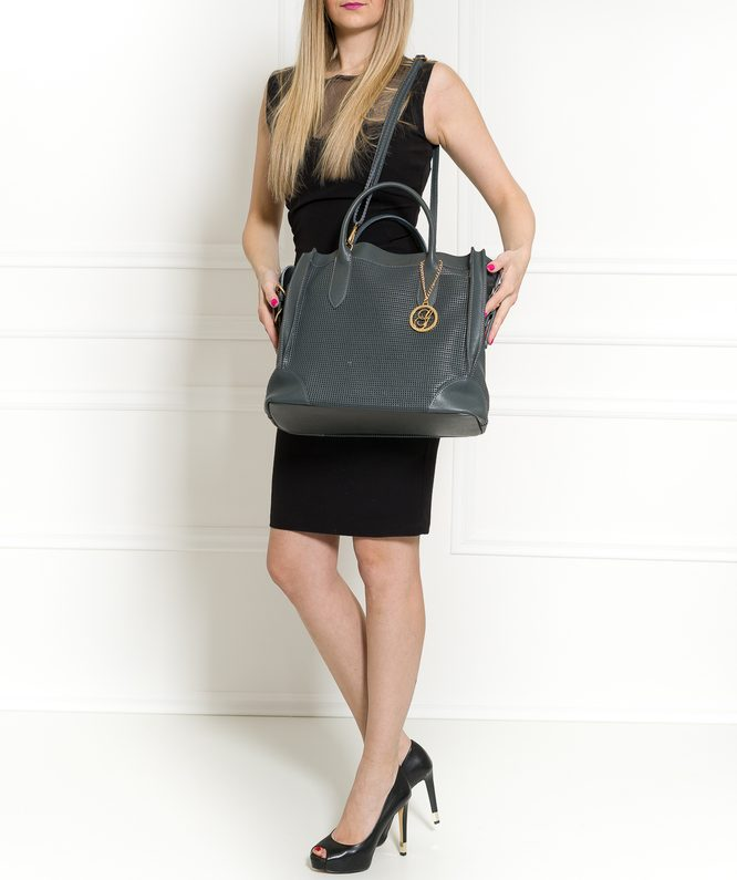 Real leather handbag Glamorous by GLAM - Grey